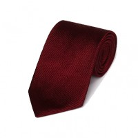 Gitman Bros - Ties and Pocket Squares - Woven Twill Tie Burgundy
