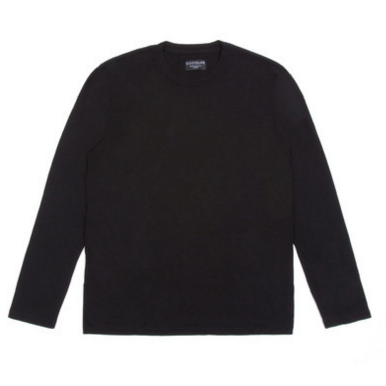 Goodlife - T-Shirts - Core Long Sleeve Crewneck T-Shirt Black