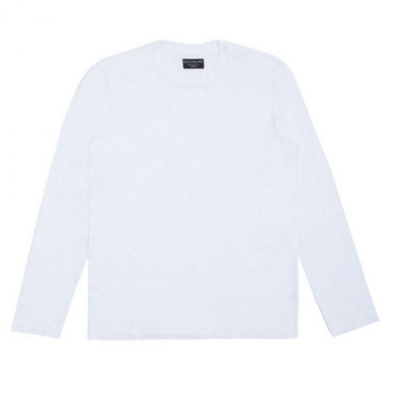Goodlife - T-Shirts - Core Long Sleeve Crewneck T-Shirt White