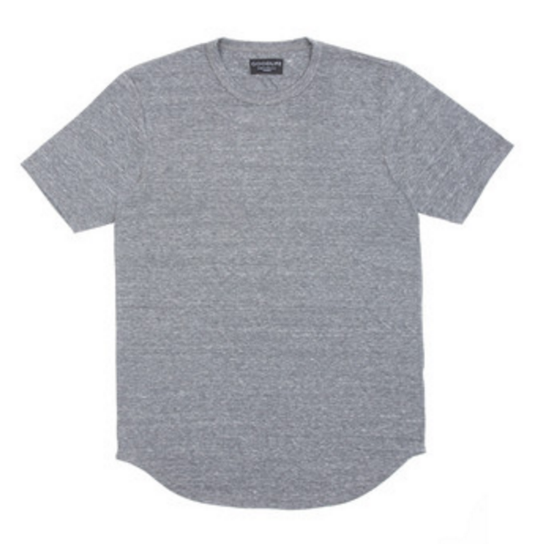 Goodlife - T-Shirts - Core Scallop T-Shirt Heather Grey