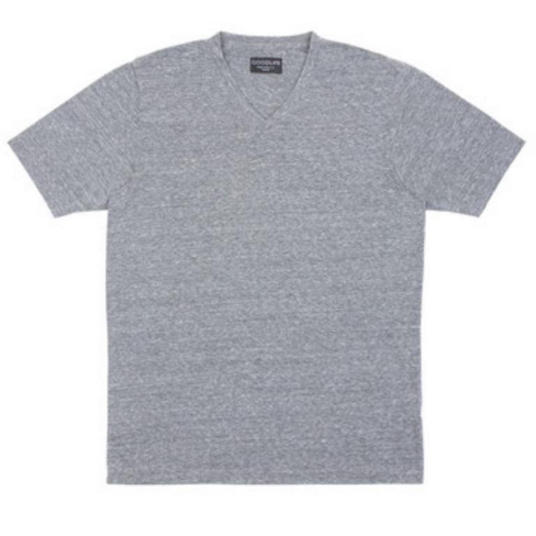 Goodlife - T-Shirts - Core Vneck T-Shirt Heather Grey
