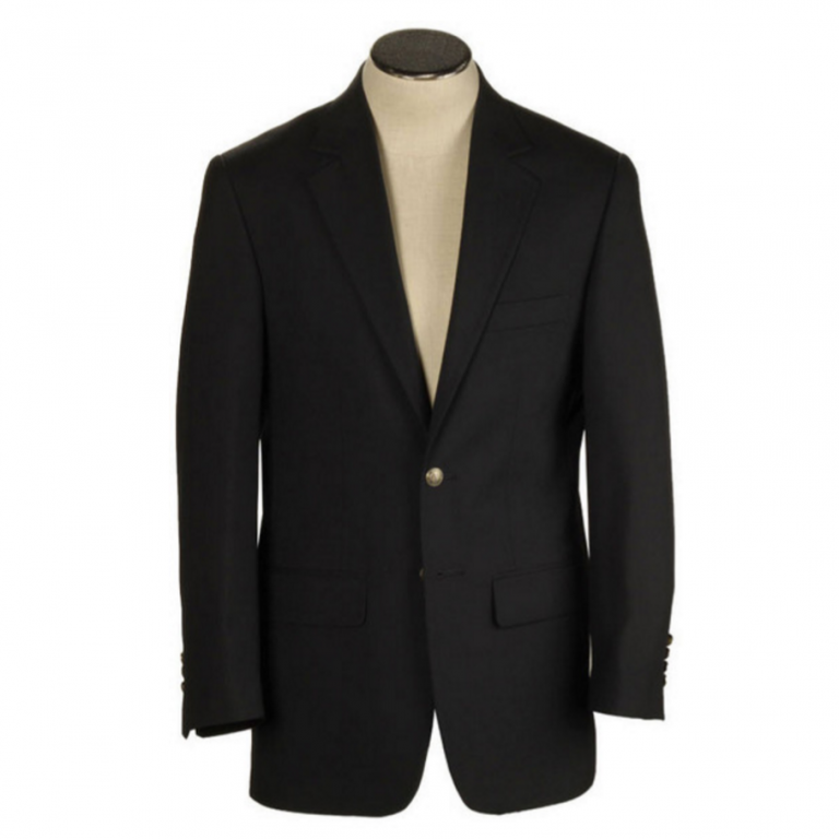 Hardwick - Suits and Sportcoats - Black Hopsack Blazer