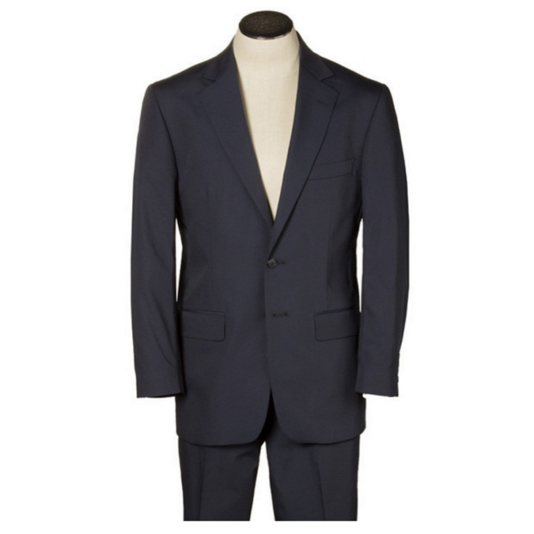Hardwick - Suits and Sportcoats - Doyle Navy Two-Button Poplin Suit