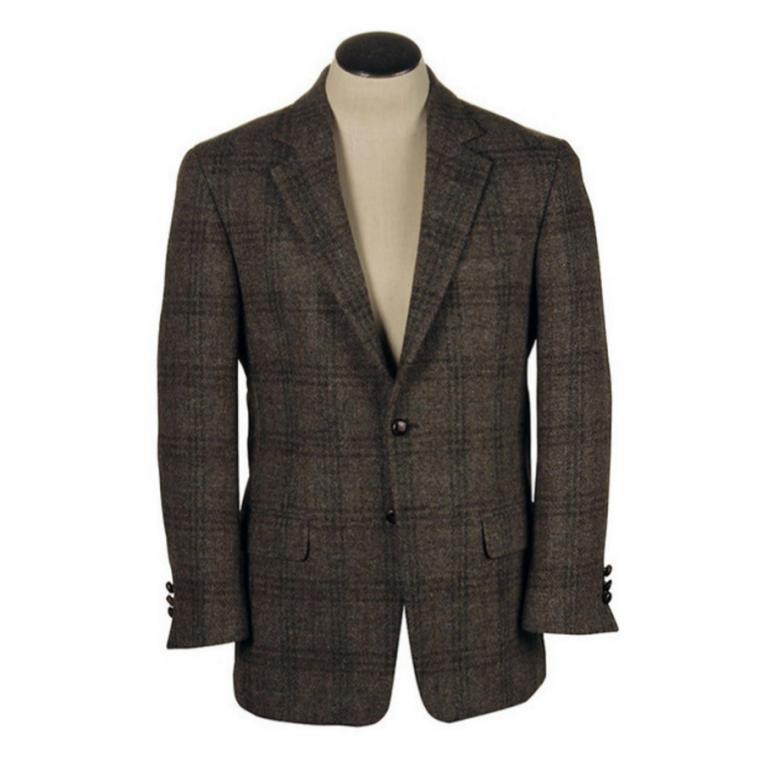 Hardwick - Suits and Sportcoats - Harris Tweed Grey Plaid Sport Coat