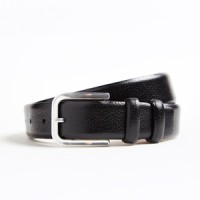 hickey freeman pebble grain black calfskin belt