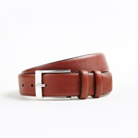 Hickey Freeman_Categories_Belts and Suspenders_Images_saffiano grain calfskin belt brown