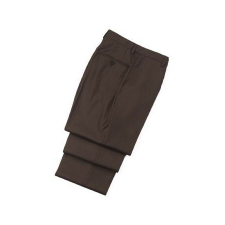 hickey freeman wool traveler flat front trouser