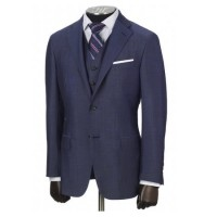 hickey freeman blue wool suit