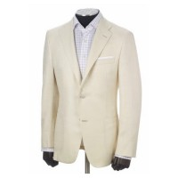 hickey freeman white silk sport coat