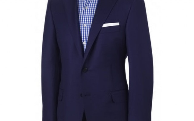 hickey freeman navy blue blazer