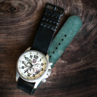cordovan simple nato watch strap_black