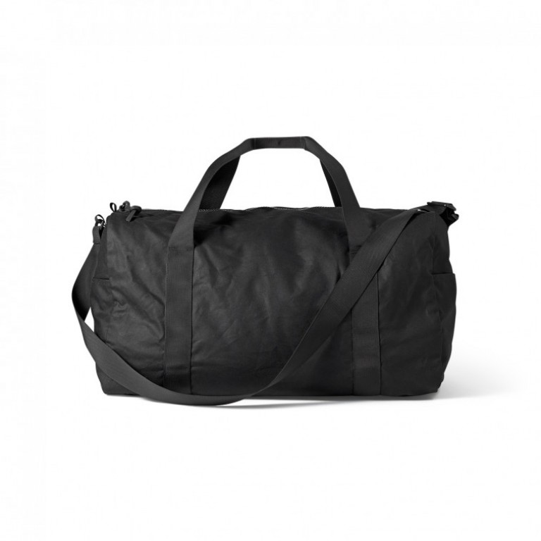 filson medium tin cloth black duffle bag
