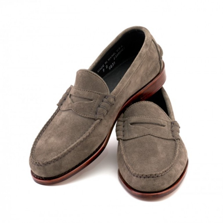 rancourt and company flint kudu suede beefroll pinch penny loafer