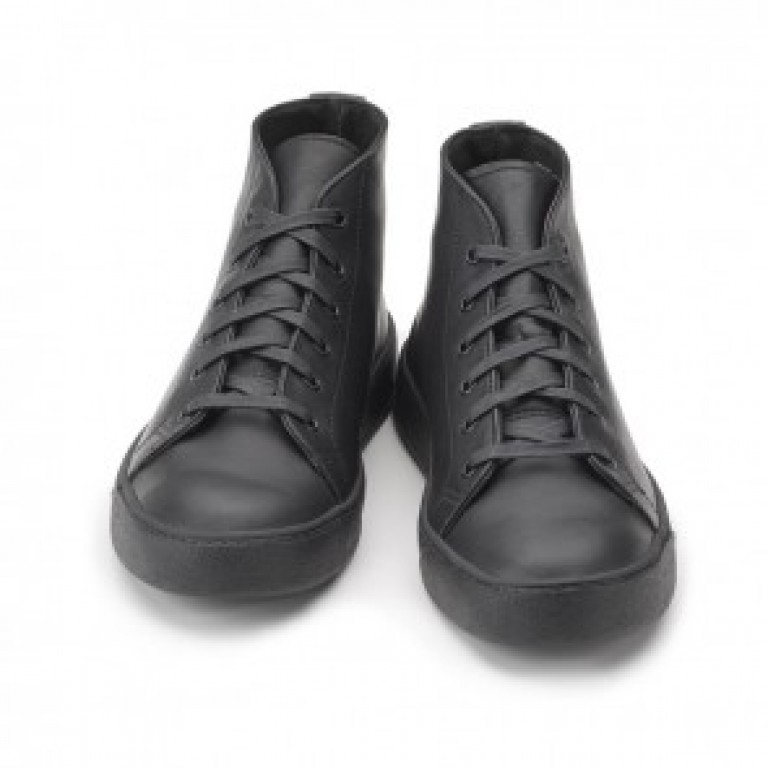 rancourt and company classic court black mid sneaker
