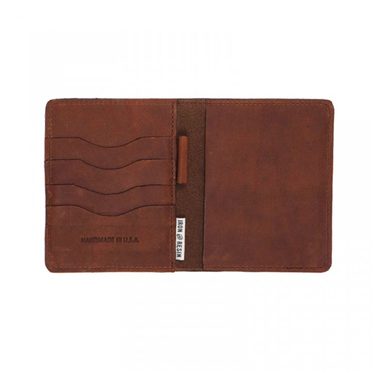 Iron and Resin - Bags and Wallets - Vagabond Wallet Brown