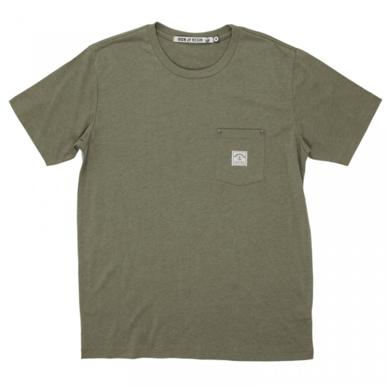 Iron and Resin - T-Shirts - Chesterfield Pocket Tee Olive