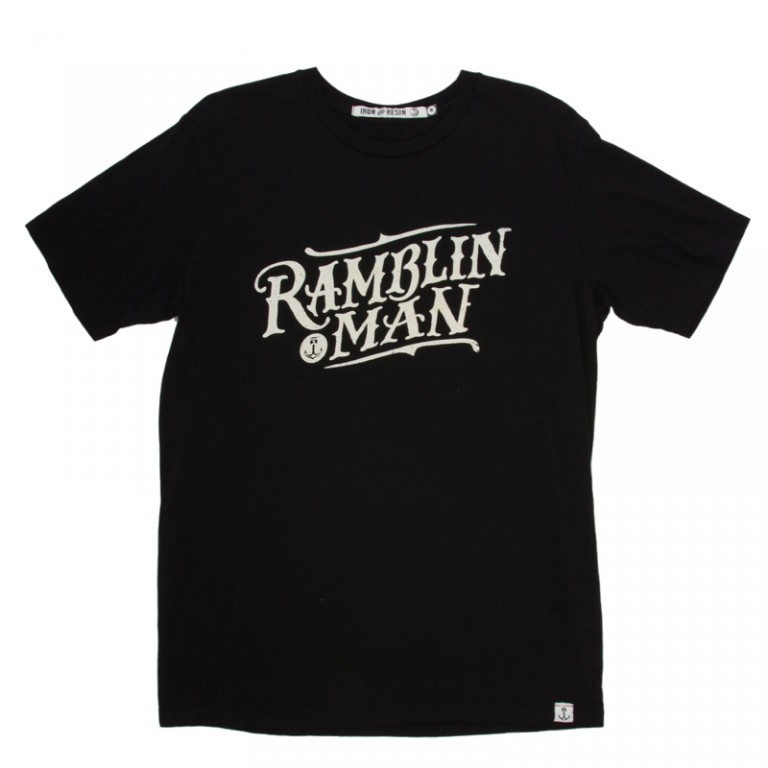 Iron and Resin - T-Shirts - Ramblin Man T-Shirt Black