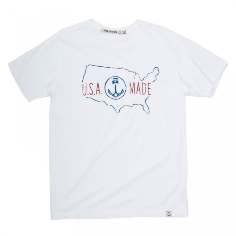 Iron and Resin - T-Shirts - USA Made T-Shirt White