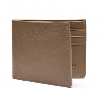 Lotuff - Bags and Wallets -Leather Bifold Wallet Clay