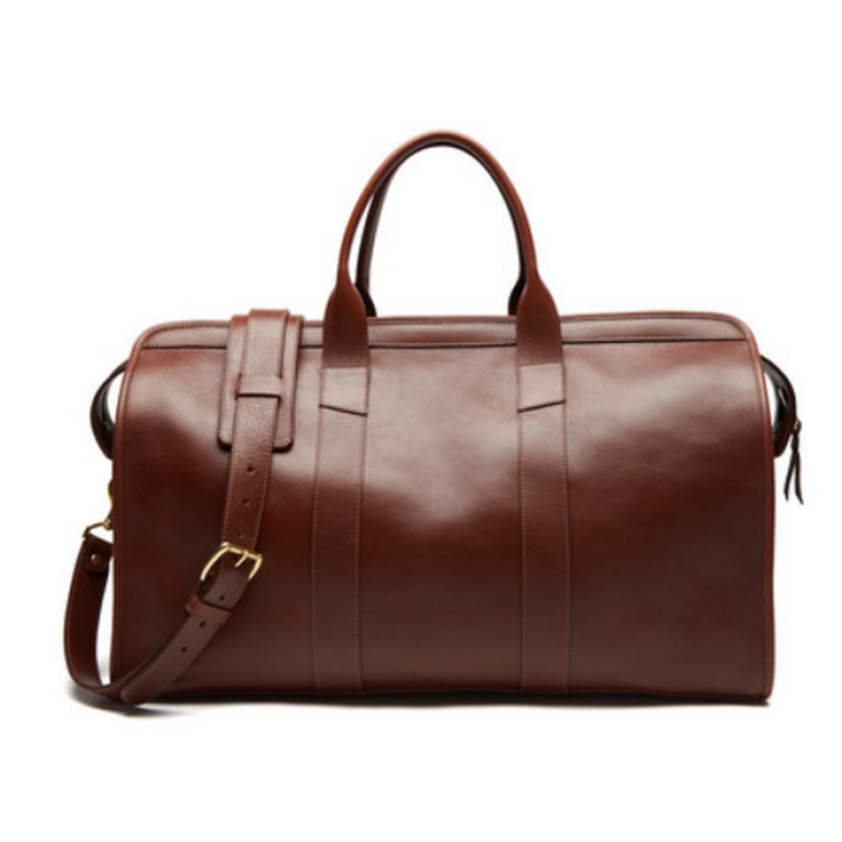 Lotuff - Bags and Wallets -Leather Duffle Travel Bag Chestnut