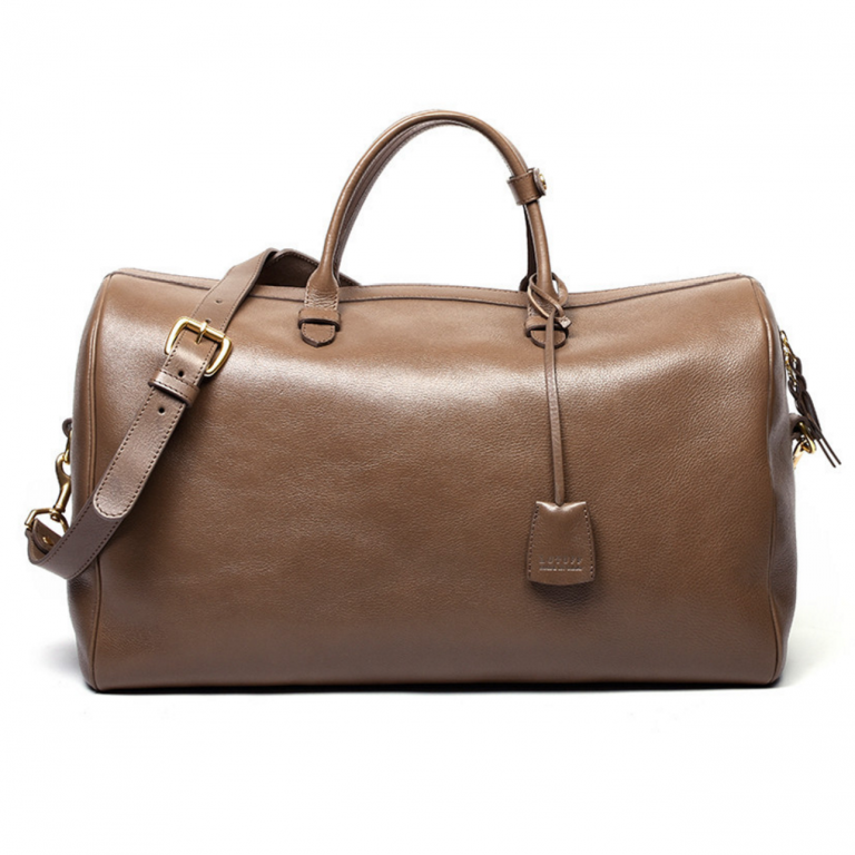 Lotuff - Bags and Wallets -No 10 Leather Weekender Bag Clay