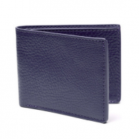 Lotuff - Bags and Wallets -Two-Pocket Leather Bifold Wallet Indigo