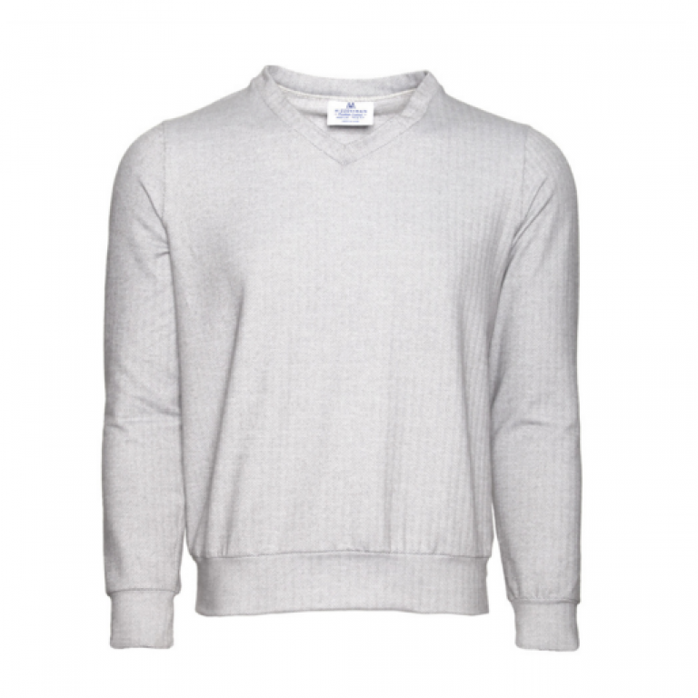 Mizzen+Main - Sweaters - Fairbanks Grey Herringbone Sweater