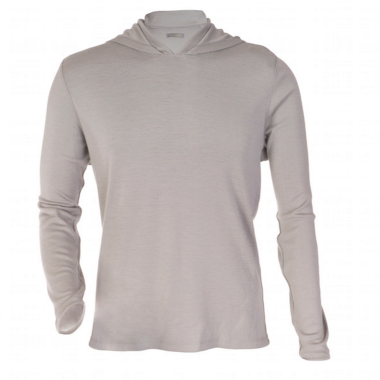 OLIVERS - Athletic - Merino Hooded Pullover Frost