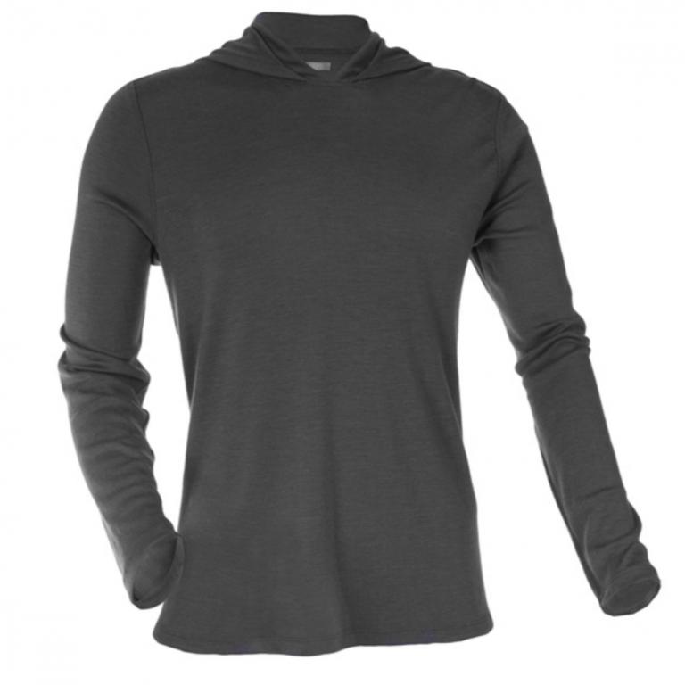 OLIVERS - Athletic - Merino Hooded Pullover Gunmetal