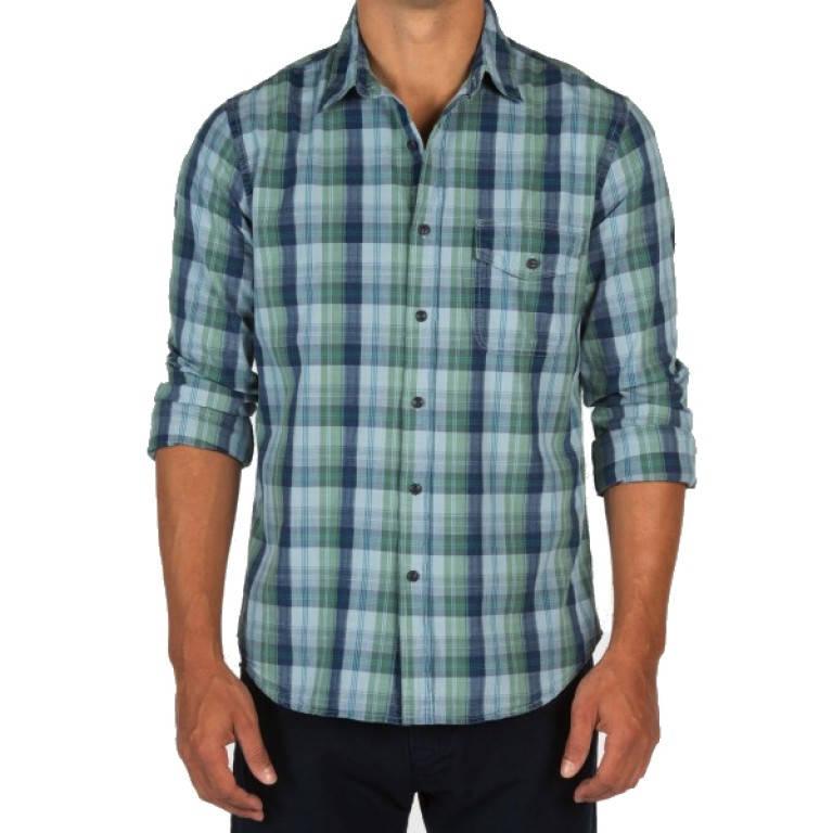 Save Khaki United - Casual Button-Down Shirts - L-S Madras Work Shirt