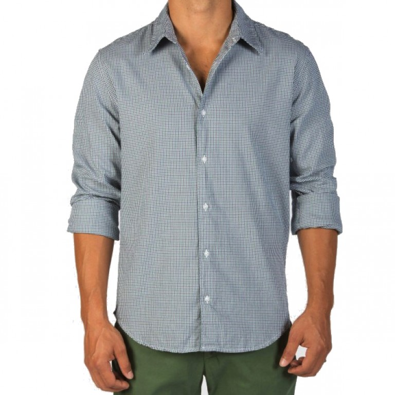 Save Khaki United - Casual Button-Down Shirts - L-S Yarn Dye Oxford Simple Shirt