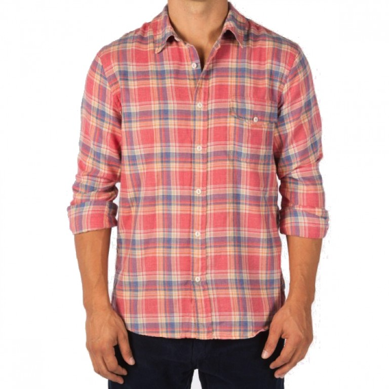 Save Khaki United - Casual Button-Down Shirts - Yarn Dye Flannel Work Shirt