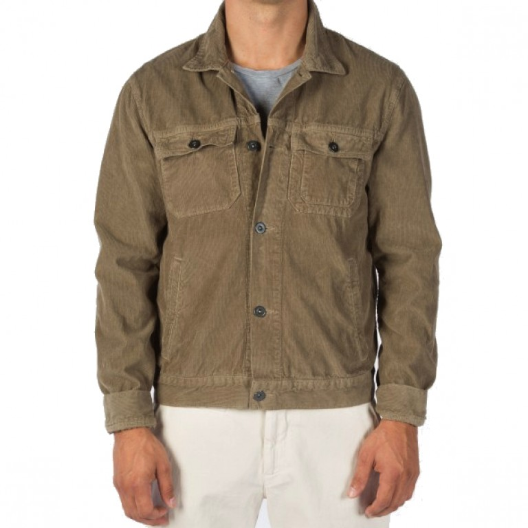 Save Khaki United - Coats and Jackets - Pima Corduroy Jean Jacket