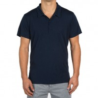 Save Khaki United - Polos - Supima Jersey Polo - Classic Navy