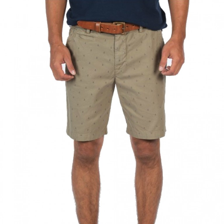 Save Khaki United - Shorts - Anchor Print Bermuda Short