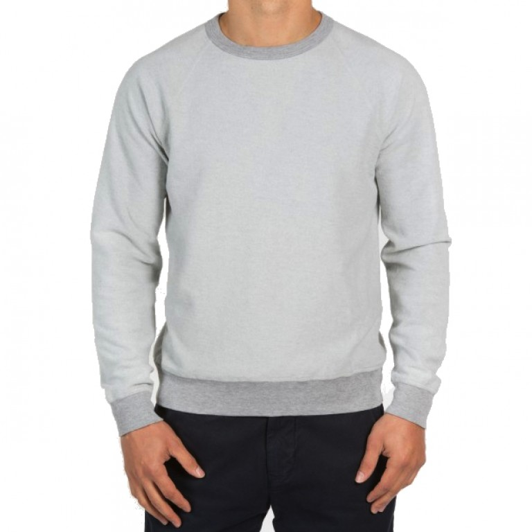 Save Khaki United - Sweatshirts - L-S Heather Fleece Crew Sweatshirt
