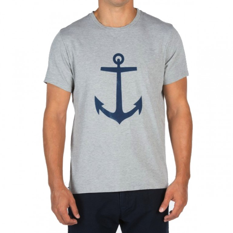 Save Khaki United - T-Shirts - S-S Anchor Print Tee