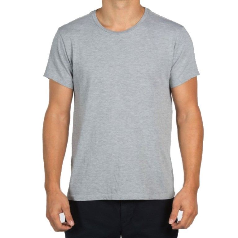 Save Khaki United - T-Shirts - S-S Heather Crew Tee