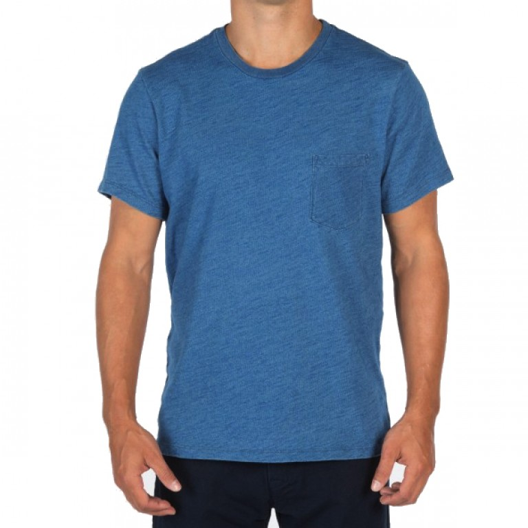 Save Khaki United - T-Shirts - S-S Indigo Pocket Tee