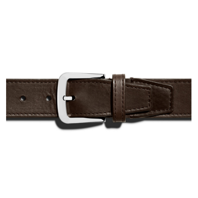 Shinola - Suspenders and Belts - 2 Tack Single Keeper Belt Brown