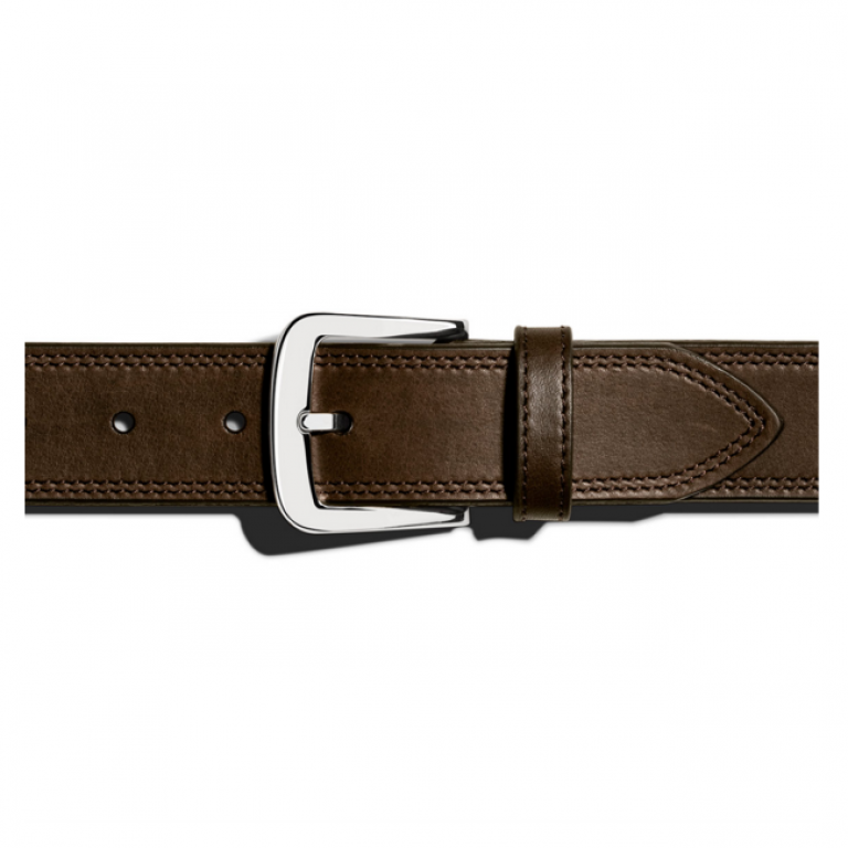 Shinola - Suspenders and Belts - Double Stitch Belt Brown