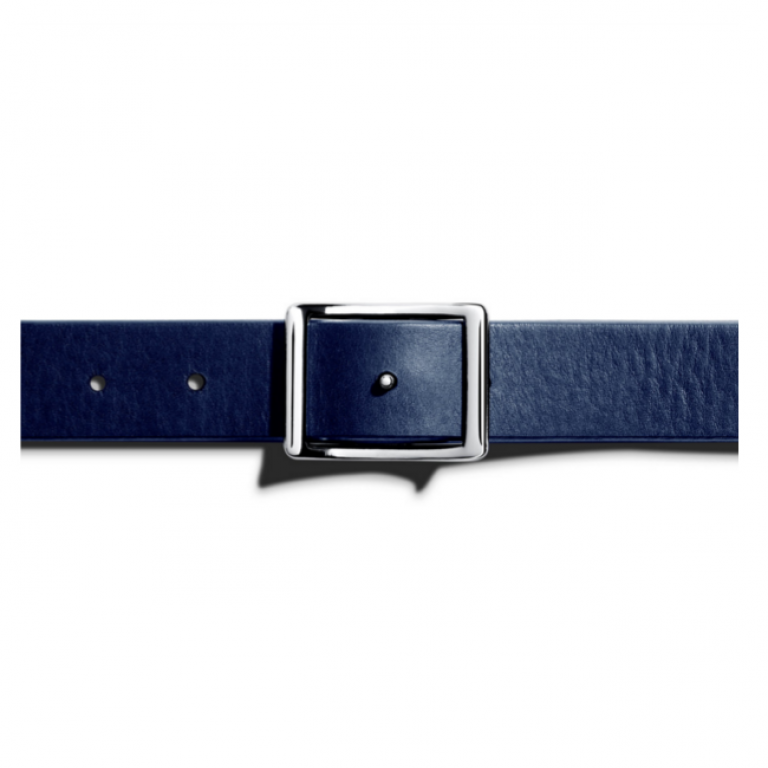Shinola - Suspenders and Belts - Reversible Belt Navy Bourbon