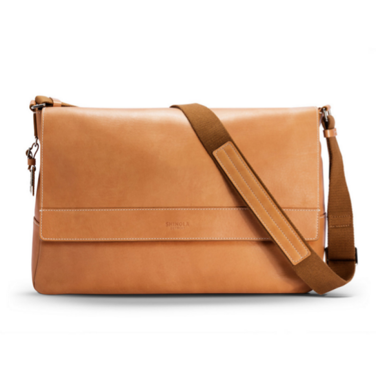 Shinola - Wallets and Bags - East West Messenger Tan