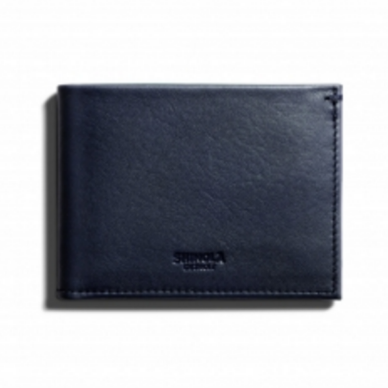 Shinola - Wallets and Bags - Slim Bifold Wallet Navy