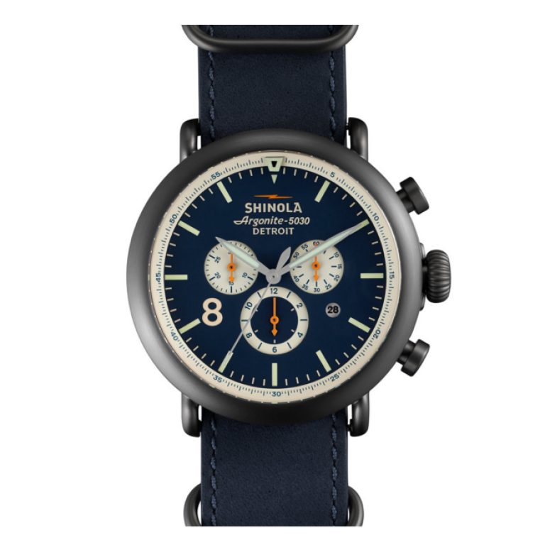Shinola - Watches - The Runwell Contrast Chrono Men's Blue
