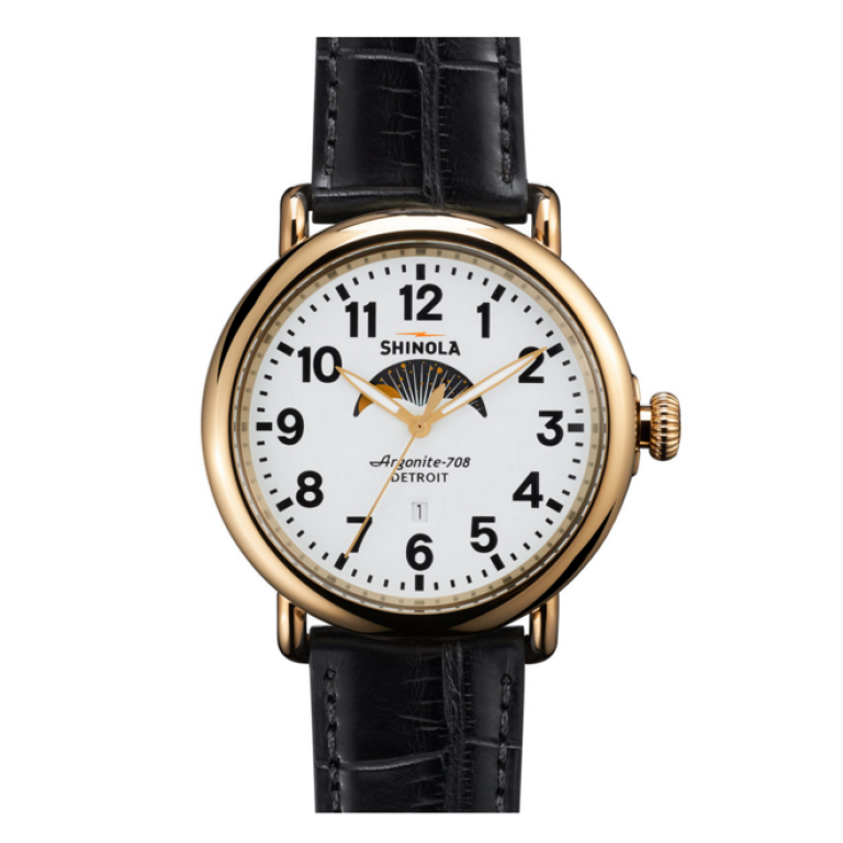 Shinola - Watches - The Runwell Moon Phase Men's White