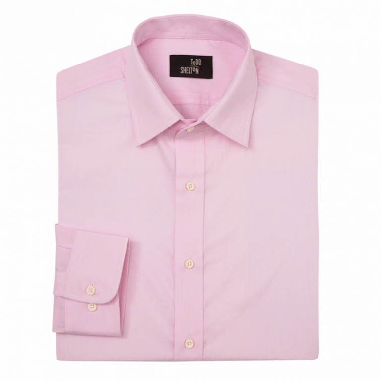 Todd Shelton - Dress Shirts - End-on-End Shirt Pink
