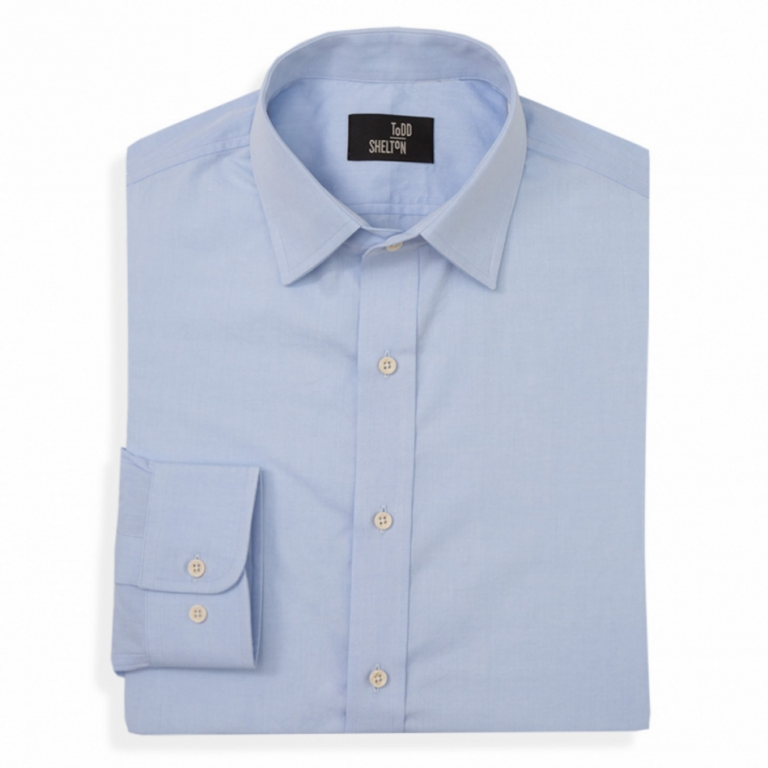 Todd Shelton - Dress Shirts - Poplin Shirt Blue