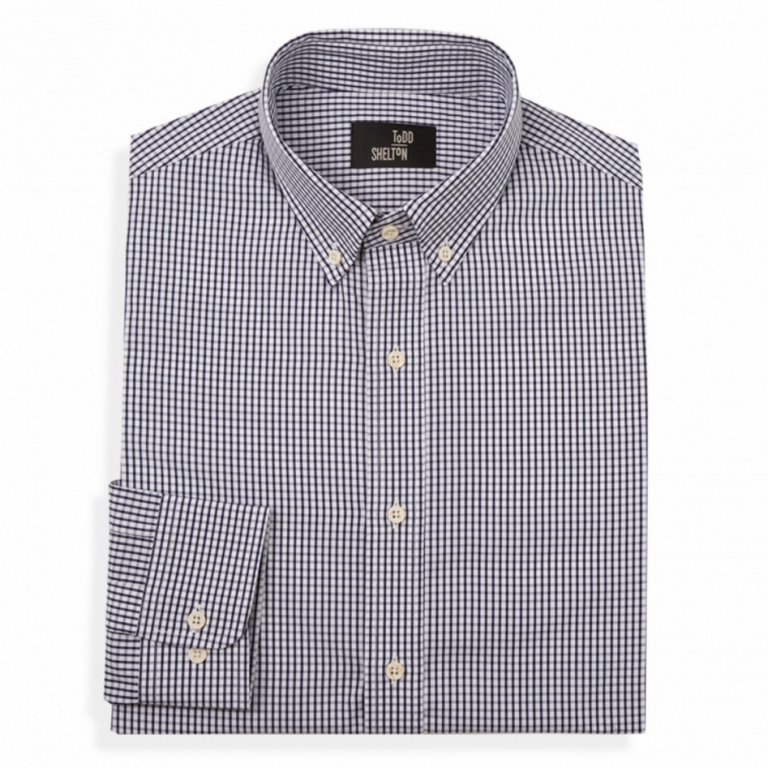 Todd Shelton - Dress Shirts - Poplin Shirt Navy Check