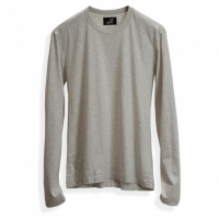 Todd Shelton - T-Shirts - Heather Grey Long Sleeve Crew